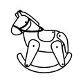 Silhouette Horse Toy Flat Icon