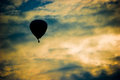 Silhouette hot air balloon