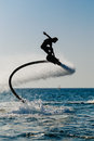 Silhouette of a hover board rider Royalty Free Stock Photo