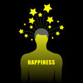Silhouette of human with stars Royalty Free Stock Photography