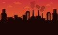 Silhouette of industry landscape
