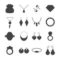 Silhouette jewelry accessories vector.