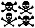 Silhouette of the jolly roger vector illustration Stock Photography