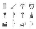 Armas y objetos icono