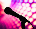 Silhouette of microphone Royalty Free Stock Photo