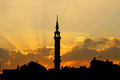 Silhouette of a mosque Royalty Free Stock Photo