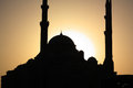 Silhouette mosque of a in dubai Stock Photography