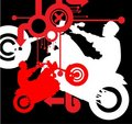 Silhouette of the motorcycle on mixed abstract bac Royalty Free Stock Images
