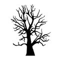 Silhouette old dry wood this is file of eps format Royalty Free Stock Photo