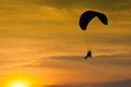 Silhouette of para motor glider Royalty Free Stock Images