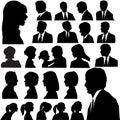 Silueta lidé portréty hlava tváře