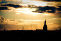 Silhouette of Riga Royalty Free Stock Photo
