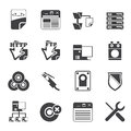 Silhouette Server Side Computer icons Royalty Free Stock Photo