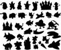Silhouette set Vector Royalty Free Stock Photography