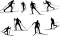 Silhouette Cross-country skiing