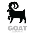 Silhouette stylized drawing goat or nanny
