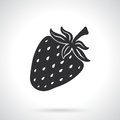 Silhouette of sweet strawberry