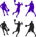 stock image of  Silhouette of three basketball players. Vector setillustration