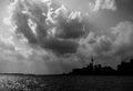 Silhouette of Toronto skyline Royalty Free Stock Photo