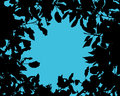 Silhouette of tree leaves vector background with a Royalty Free Stock Photo