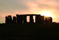 A silhouette view of stonehenge at sunset dramatic an ancient monument in england Royalty Free Stock Photography