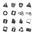 Silhouette Web site and computer Icons Royalty Free Stock Photo