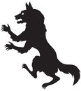 Silhouette of a werewolf image scary Royalty Free Stock Photo