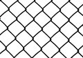 Silhouette of wired fence isolated on white illustration Stock Images
