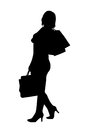 Silhouette woman 免版税库存照片