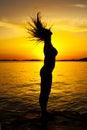 Silhouette woman Стоковые Изображения