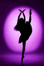 Silhouette of woman ballerina ballet dancer Stock Image