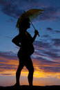 Silhouette Of A Woman Pregnant...