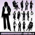 Silhouettes of Businesswomen