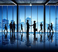 Silhouettes Of Busy Business P...