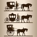 Silhouettes of the carriages