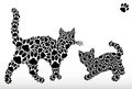 Silhouettes of cats from cat tracks