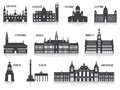 Silhouettes of cities set for you design Stock Image