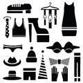 Silhouettes of clothes Royalty Free Stock Photo