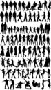 Silhouettes de gens Photo stock