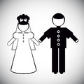 Silhouettes of Father and the bride
