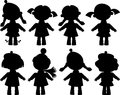 Silhouettes of girls Royalty Free Stock Image
