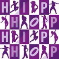 Silhouettes of girls dancing hip hop