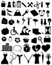 Silhouettes items Stock Photo