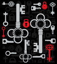 Silhouettes  of keys Royalty Free Stock Images