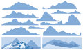 Silhouettes of mountains background is my creative handdrawing and you can use it for winter mountain design and etc all elements Stock Images