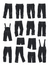 Silhouettes of pants for boys