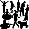 Silhouettes of people Royalty Free Stock Photo