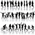 Silhouettes of people Royalty Free Stock Photos