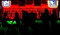 Silhouettes of people sitting at the bar night club Royalty Free Stock Image