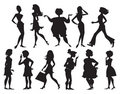 Silhouettes of women Royalty Free Stock Photo